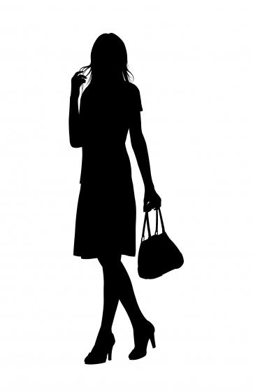 女性シルエットイラスト : スマホ pdf : すべての講義