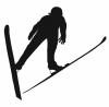 シルエット=スキージャンプ