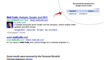Personal Blocklist (by Google)